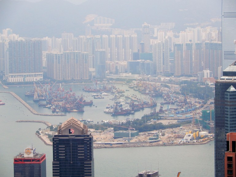 Hong Kong - port out of Victoria Peak 2