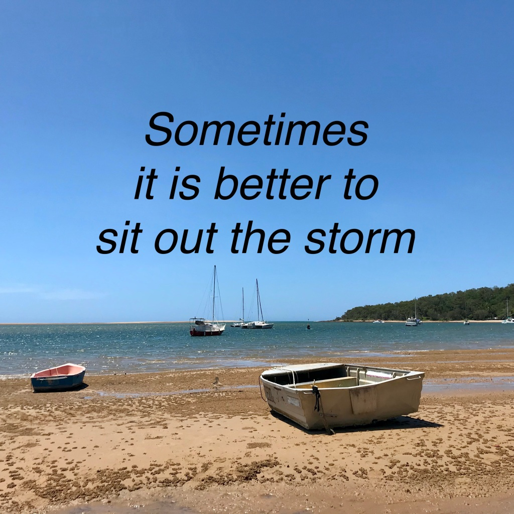Sometimes it is better to sit out the storm. (c) finfinnews