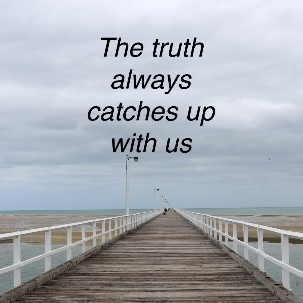 The truth always catches up with us. The long Pier in Hervey Bay (c) Finfinnews