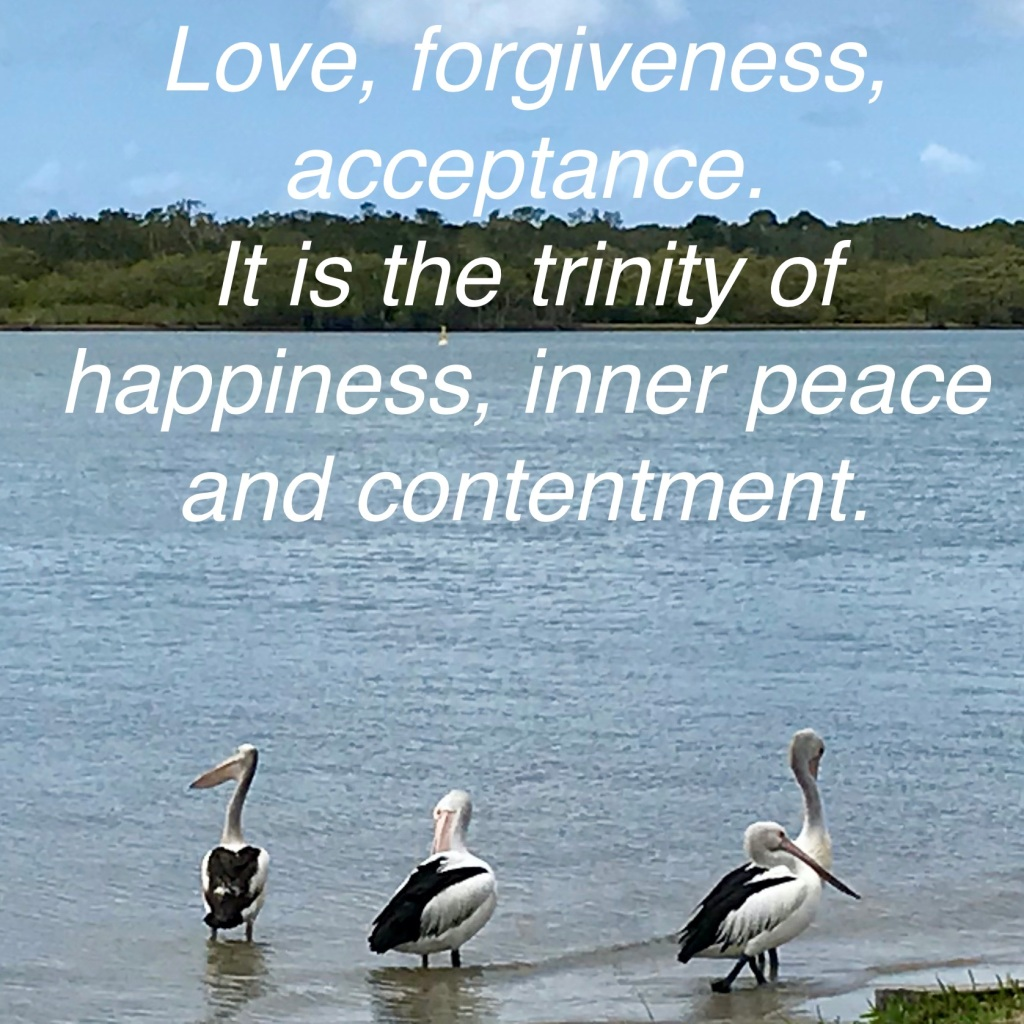 Love, forgiveness, acceptance. It is the trinity of happiness, inner peace and contentment. Noosaville (c) Finfinnews
